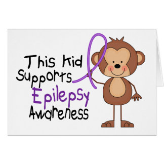 This Kid Supports Epilepsy Awareness Card