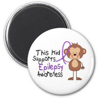 This Kid Supports Epilepsy Awareness Fridge Magnet