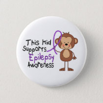 This Kid Supports Epilepsy Awareness Pinback Button