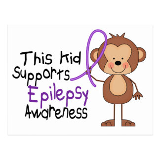 This Kid Supports Epilepsy Awareness Postcard