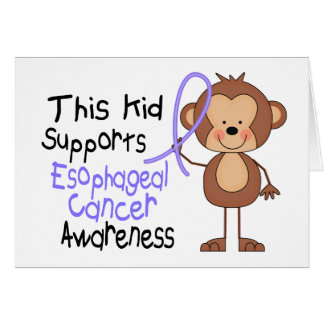 This Kid Supports Esophageal Cancer Awareness Greeting Card
