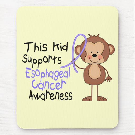 This Kid Supports Esophageal Cancer Awareness Mouse Pad