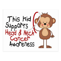 This Kid Supports Head and Neck Cancer Awareness Postcard