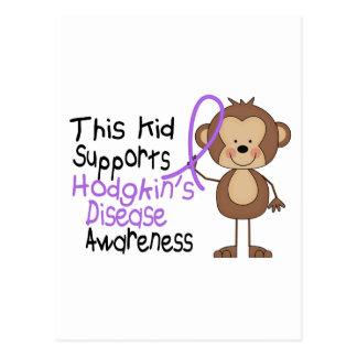 This Kid Supports Hodgkins Disease Awareness Postcard
