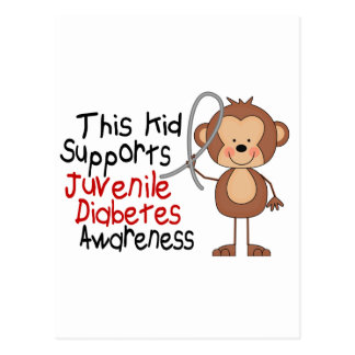 This Kid Supports Juvenile Diabetes Awareness Postcard