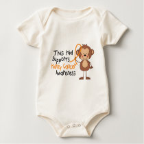 This Kid Supports Kidney Cancer Awareness Baby Bodysuit