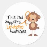 This Kid Supports Leukemia Awareness Stickers
