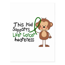This Kid Supports Liver Cancer Awareness Postcard