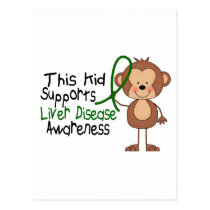 This Kid Supports Liver Disease Awareness Postcard