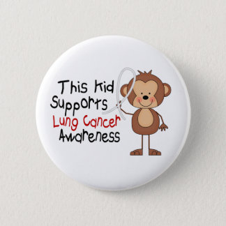 This Kid Supports Lung Cancer Awareness Pinback Button