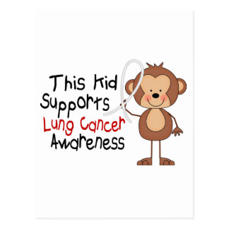 This Kid Supports Lung Cancer Awareness Postcard
