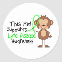 This Kid Supports Lyme Disease Awareness Classic Round Sticker