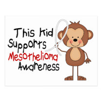 This Kid Supports Mesothelioma Awareness Postcard