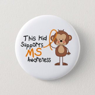 This Kid Supports MS Awareness Pinback Button