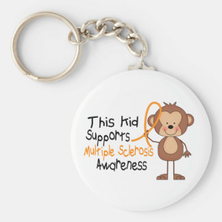 This Kid Supports Multiple Sclerosis Awareness Keychain