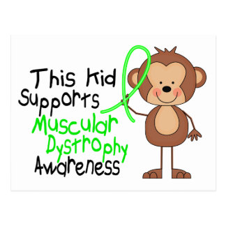 This Kid Supports Muscular Dystrophy Awareness Postcard