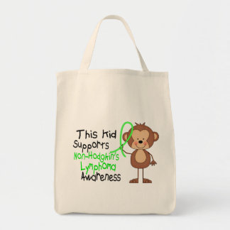 This Kid Supports Non-Hodgkins Lymphoma Awareness Grocery Tote Bag