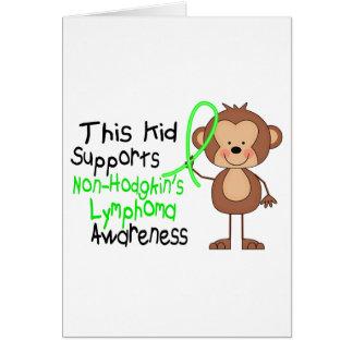 This Kid Supports Non-Hodgkins Lymphoma Awareness Card