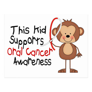 This Kid Supports Oral Cancer Awareness Postcard