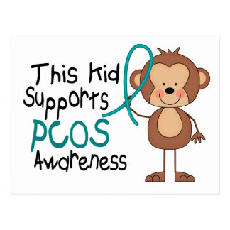 This Kid Supports PCOS Awareness Postcard