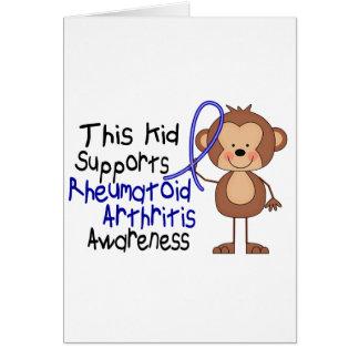 This Kid Supports Rheumatoid Arthritis Awareness Greeting Card