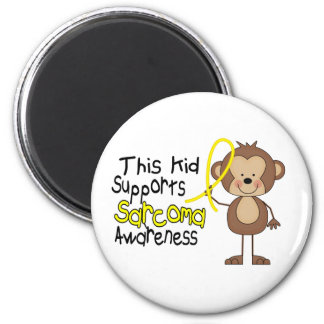 This Kid Supports Sarcoma Awareness 2 Inch Round Magnet