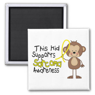 This Kid Supports Sarcoma Awareness 2 Inch Square Magnet