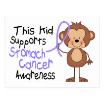 This Kid Supports Stomach Cancer Awareness Postcard