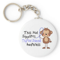 This Kid Supports Thyroid Disease Awareness Keychain