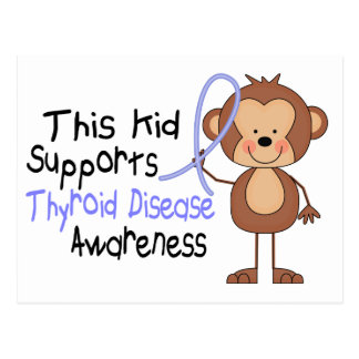 This Kid Supports Thyroid Disease Awareness Postcard