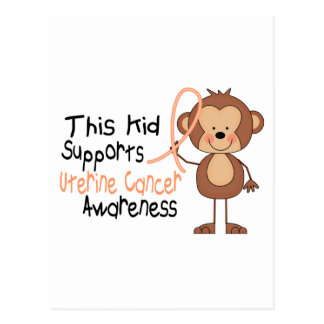 This Kid Supports Uterine Cancer Awareness Postcard