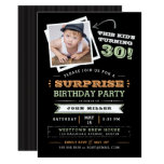 This Kid&#39;s Turning Old! Surprise Birthday Photo Card<br><div class='desc'>Let everyone know that the cute kid in the photo is getting old with this fun &quot;This Kid&#39;s Turning&quot; photo invitation. Feature a cute photo of him when he was a boy and customize every line of text to make it your own. Shown for a 30th birthday, but you customize...</div>