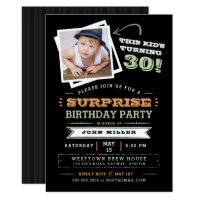 This Kid's Turning Old! Surprise Birthday Photo Card