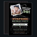 "This Kid&#39;s Turning Old! Surprise Birthday Photo Invitation<br><div class=""desc"">Let everyone know that the cute kid in the photo is getting old with this fun &quot;This Kid&#39;s Turning&quot; photo invitation. Feature a cute photo of him when he was a boy and customize every line of text to make it your own. Shown for a 30th birthday, but you customize...</div>"