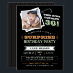 "This Kid's Turning Old! Surprise Birthday Photo Invitation<br><div class=""desc"">Let everyone know that the cute kid in the photo is getting old with this fun ""This Kid's Turning"" photo invitation. Feature a cute photo of him when he was a boy and customize every line of text to make it your own. Shown for a 30th birthday, but you customize...</div>"