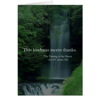 This Kindness Merits Thanks Shakespeare Thank You Greeting Card