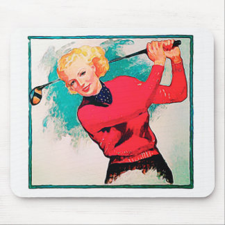 This Lady Golfs - Mousepad