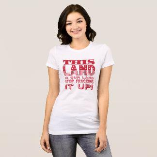 """This Land..."" Bold Flag Print T-Shirt"