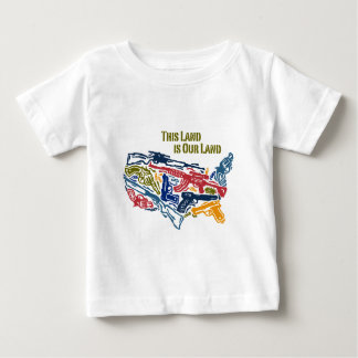 """""""This Land is Our Land"""" USA of Guns Baby T-Shirt"""