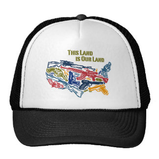 """""""This Land is Our Land"""" USA of Guns Trucker Hat"""