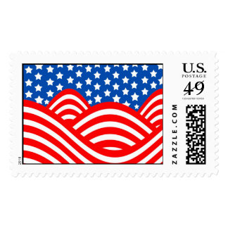 This Land Is Your Land Military Wedding Invitation Postage