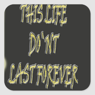 This Life Don`t Last Forever Sticker