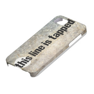 this line is tapped 4th amendment iPhone 5 cover