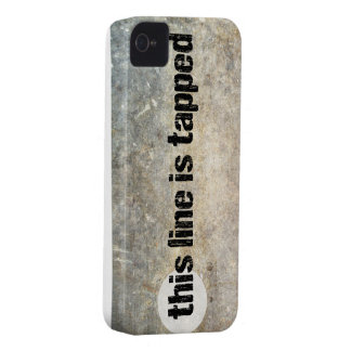 this line is tapped 4th amendment phone case