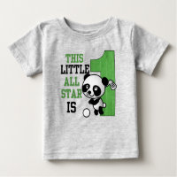 This Little ALL STAR is 1 Golf BIRTHDAY Baby T-Shirt