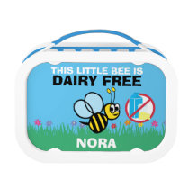 This Little Bee is Dairy Free Bumblebee Kids Lunch Box