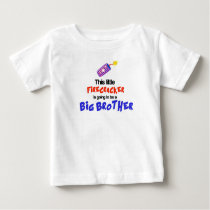 This little Firecracker, 4th of July Big Brother Baby T-Shirt