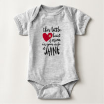 This little heart of mine - CHD heart warrior Baby Bodysuit
