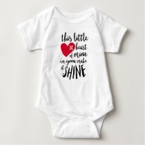 This Little Heart Of Mine - CHD Warrior Baby Bodysuit