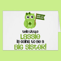 This Little Lassie Big Sister Card